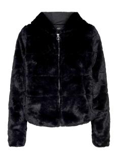 onlchris fur hooded jacket otw noos 15156560 only jas black