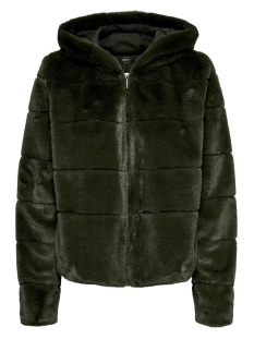 Only Jas ONLCHRIS FUR HOODED JACKET OTW NOOS 15156560 Forest Night