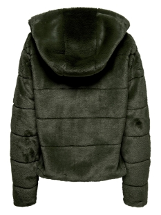 onlchris fur hooded jacket otw noos 15156560 only jas forest night