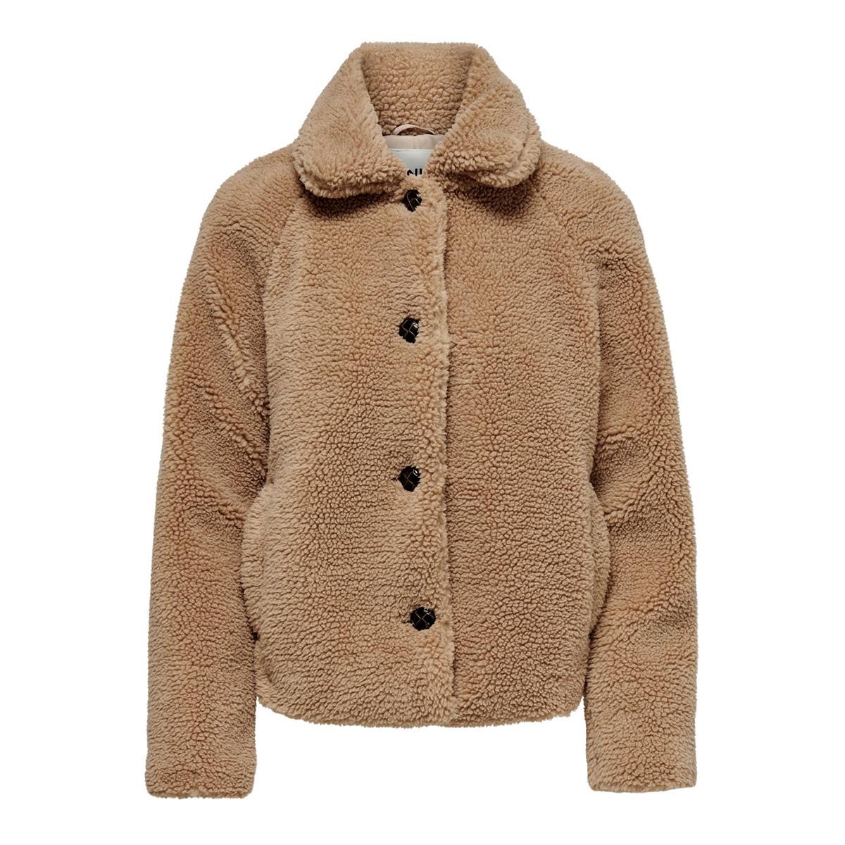 onlemily teddy jacket otw 15182133 only jas cuban sand