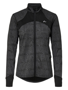 onphiss run brushed zip jacket 15175703 only play sport vest black/w. black