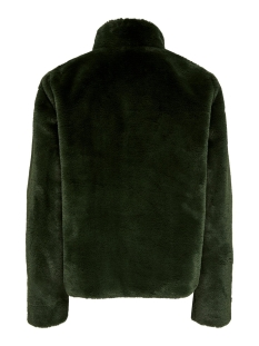 onlvida faux fur jacket otw noos 15160013 only jas forest night