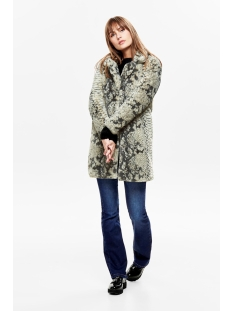 jdylucy faux fur jacket otw qiq 15184290 jacqueline de yong jas cloud dancer/snake