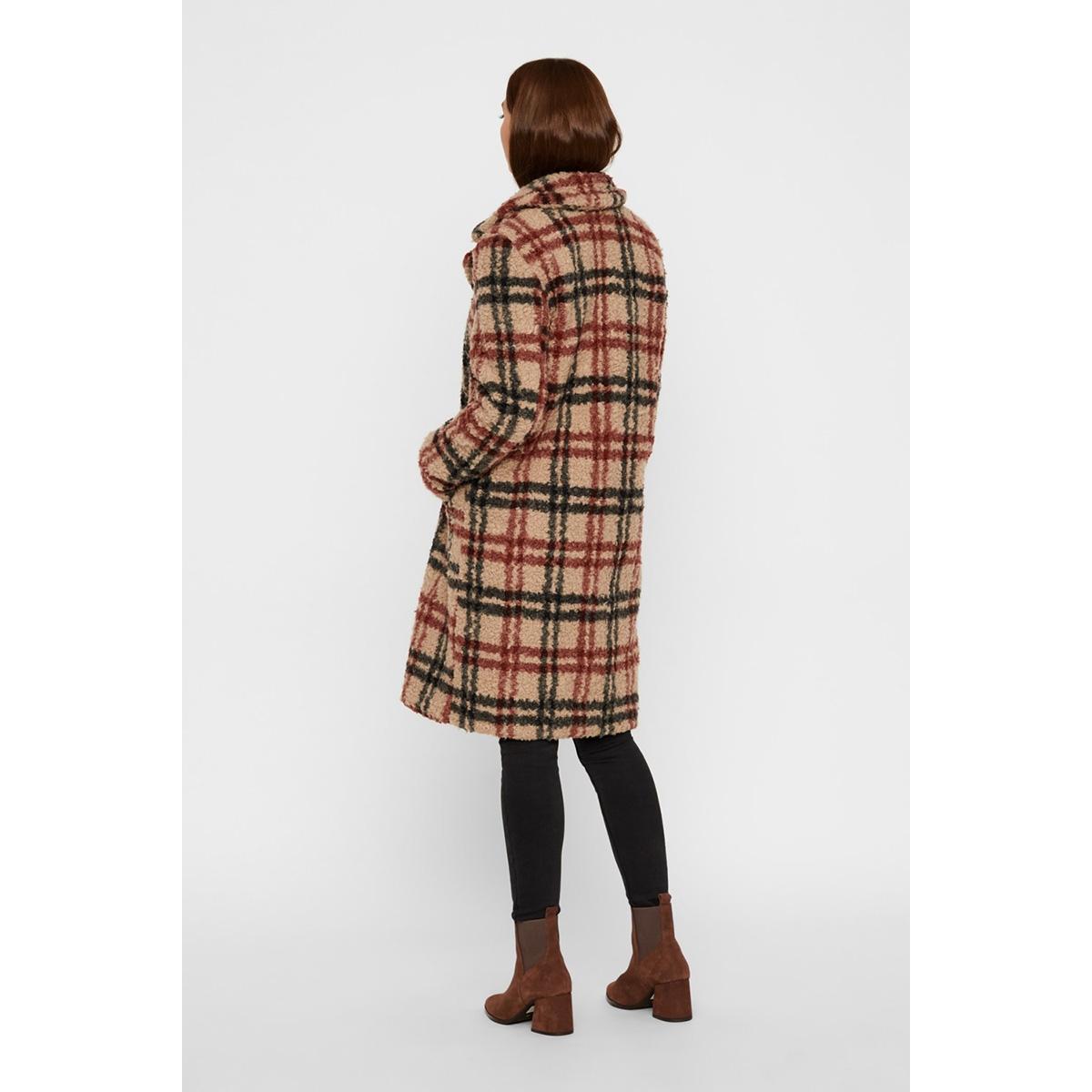 vmanne 3/4 teddy jacket 10218002 vero moda jas silver mink/black/madd