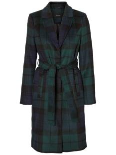 vmcindy belt 3/4 jacket boos 10215527 vero moda jas ponderosa pine/blue check