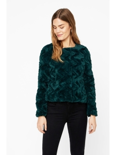 vmcurl short faux fur jacket col 10202512 vero moda jas ponderosa pine