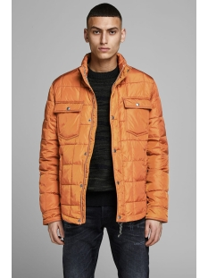 jprlambert quilt jacket 12154652 jack & jones jas leather brown