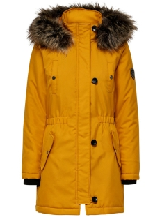 Only Jas ONLIRIS FUR PARKA CC OTW 15181307 Golden Yellow