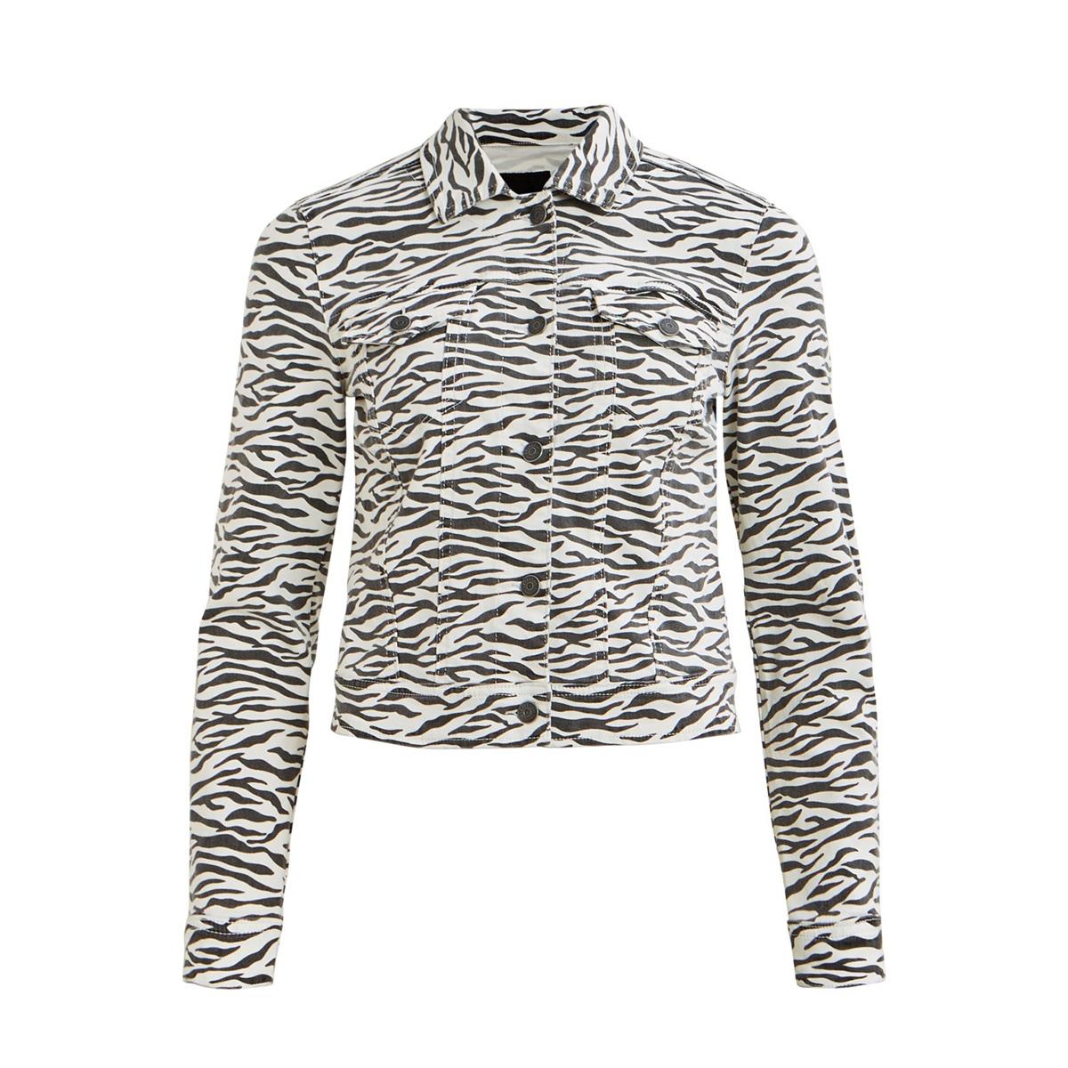 objwin new  denim jacket aop season 23030108 object jas white/zebra