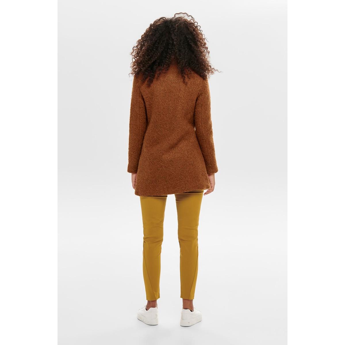onlsophia wool boucle coat cc otw 15180992 only jas ginger bread/melange