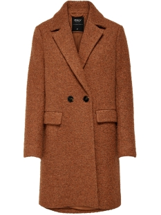 onlally boucle wool coat cc otw 15180902 only jas ginger bread/melange