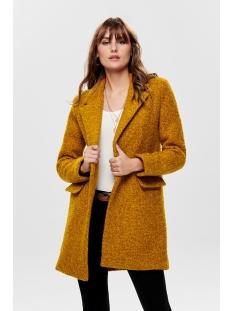 onlally boucle wool coat cc otw 15180902 only jas pumpkin spice/melange