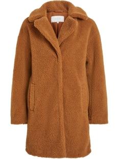 viplys teddy coat/as 14055384 vila jas oak brown