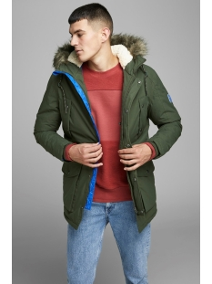 Jack & Jones Jas JOREXPLORE PARKA JACKET STS 12156113 Forest Night/SOLID