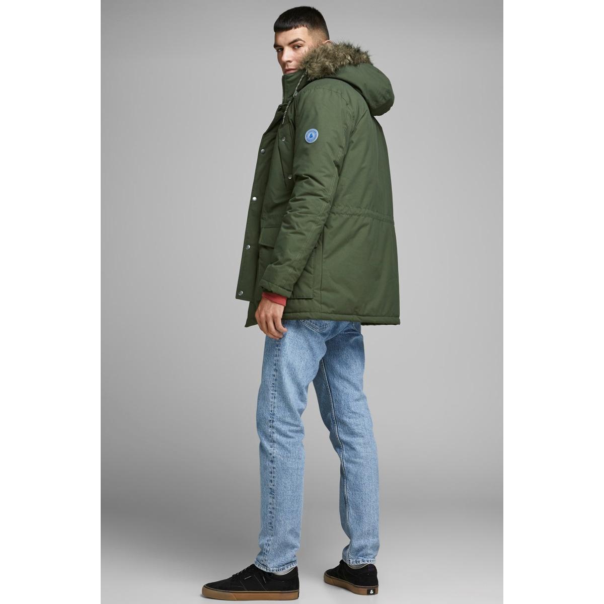 jorexplore parka jacket sts 12156113 jack & jones jas forest night/solid