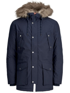 Jack & Jones Jas JOREXPLORE PARKA JACKET STS 12156113 Navy Blazer/SOLID