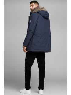 jorexplore parka jacket sts 12156113 jack & jones jas navy blazer/solid