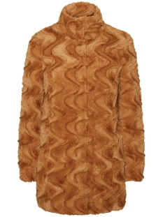Vero Moda Jas VMCURL HIGH NECK FAUX FUR JACKET CO 10198763 Tobacco Brown