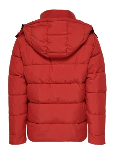 onsgrant puffa jacket otw 22014438 only & sons jas pompeian red