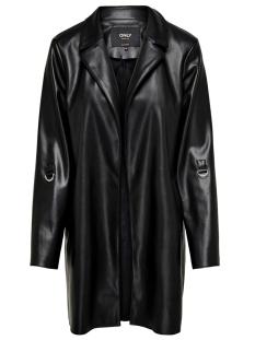 onlsophia faux leather blazer coat 15194437 only blazer black