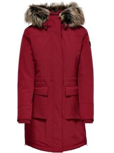 ONLNEW SALLY LONG NYLON COAT OTW 15160017 Merlot