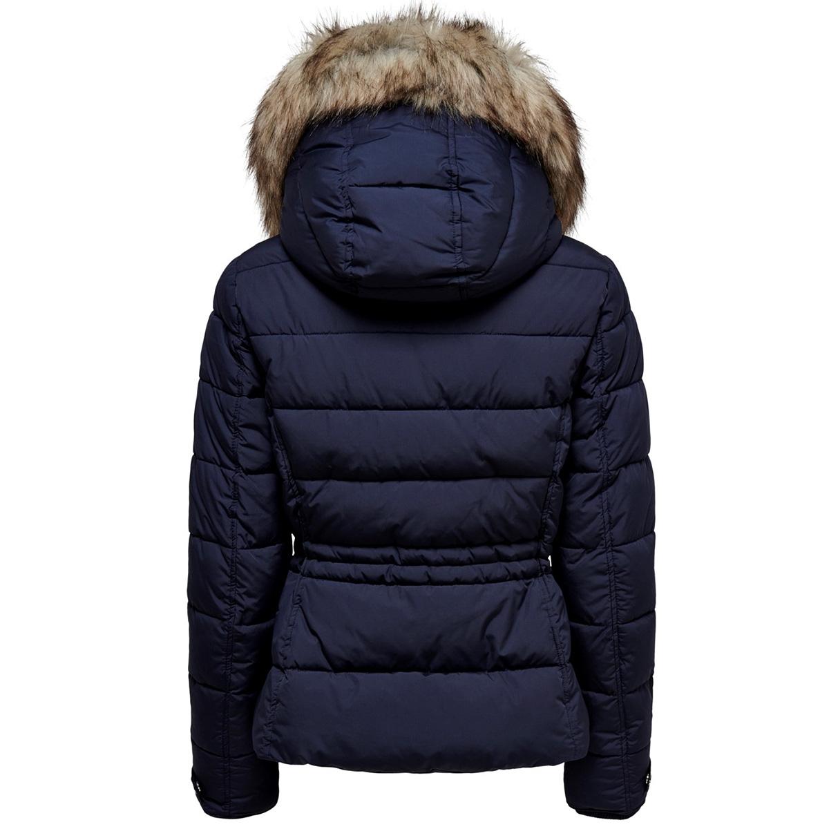 onlnew vigga short quilted jacket o 15182360 only jas night sky