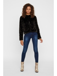 vmbrooklyn faux fur short jacket bo 10214984 vero moda jas black