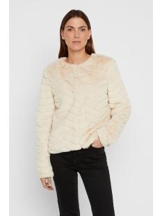 vmbrooklyn faux fur short jacket bo 10214984 vero moda jas birch