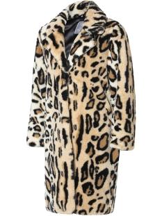 fur coat leoppard 98525 geisha jas ecru/camel combi