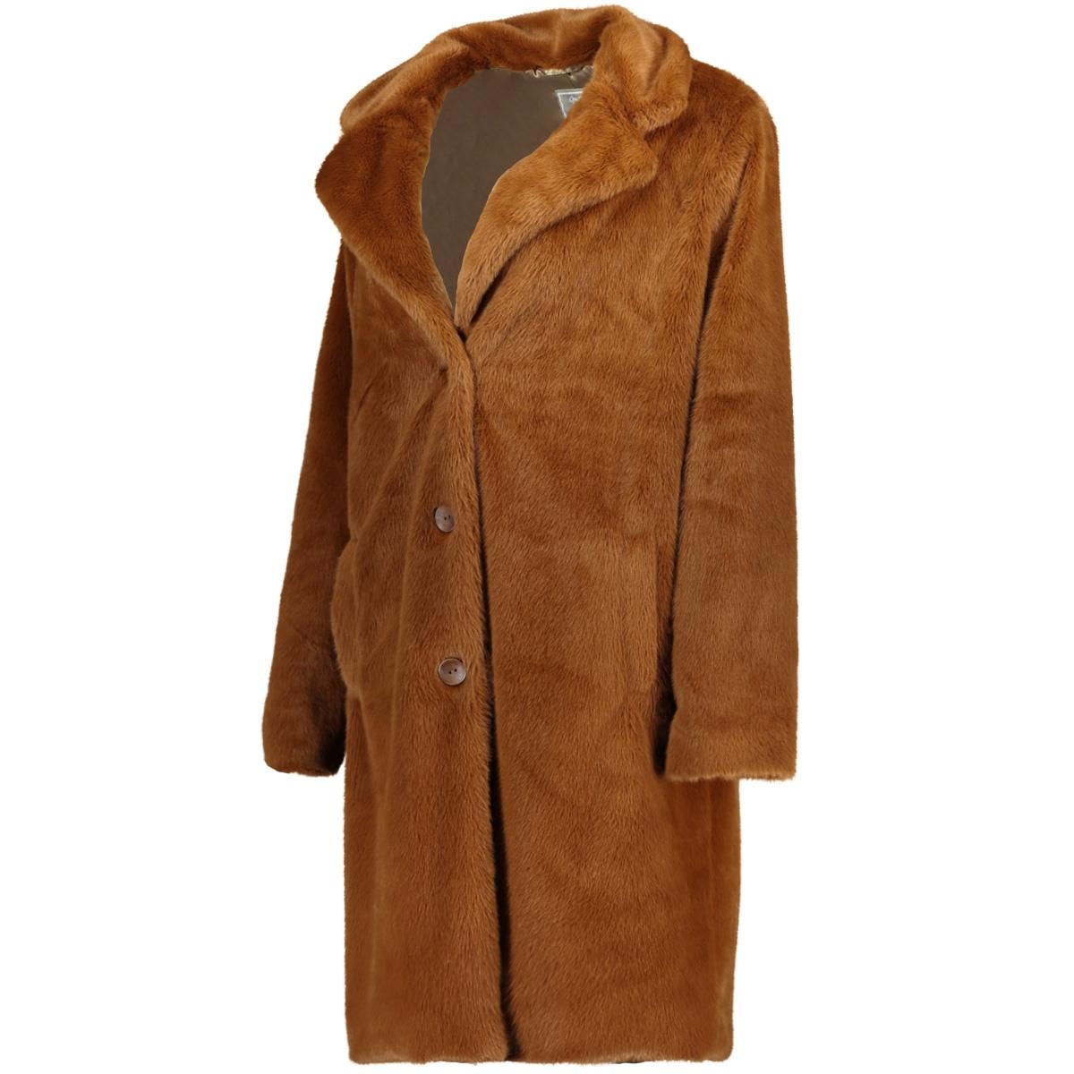fur coat solid 98504 geisha jas coffee