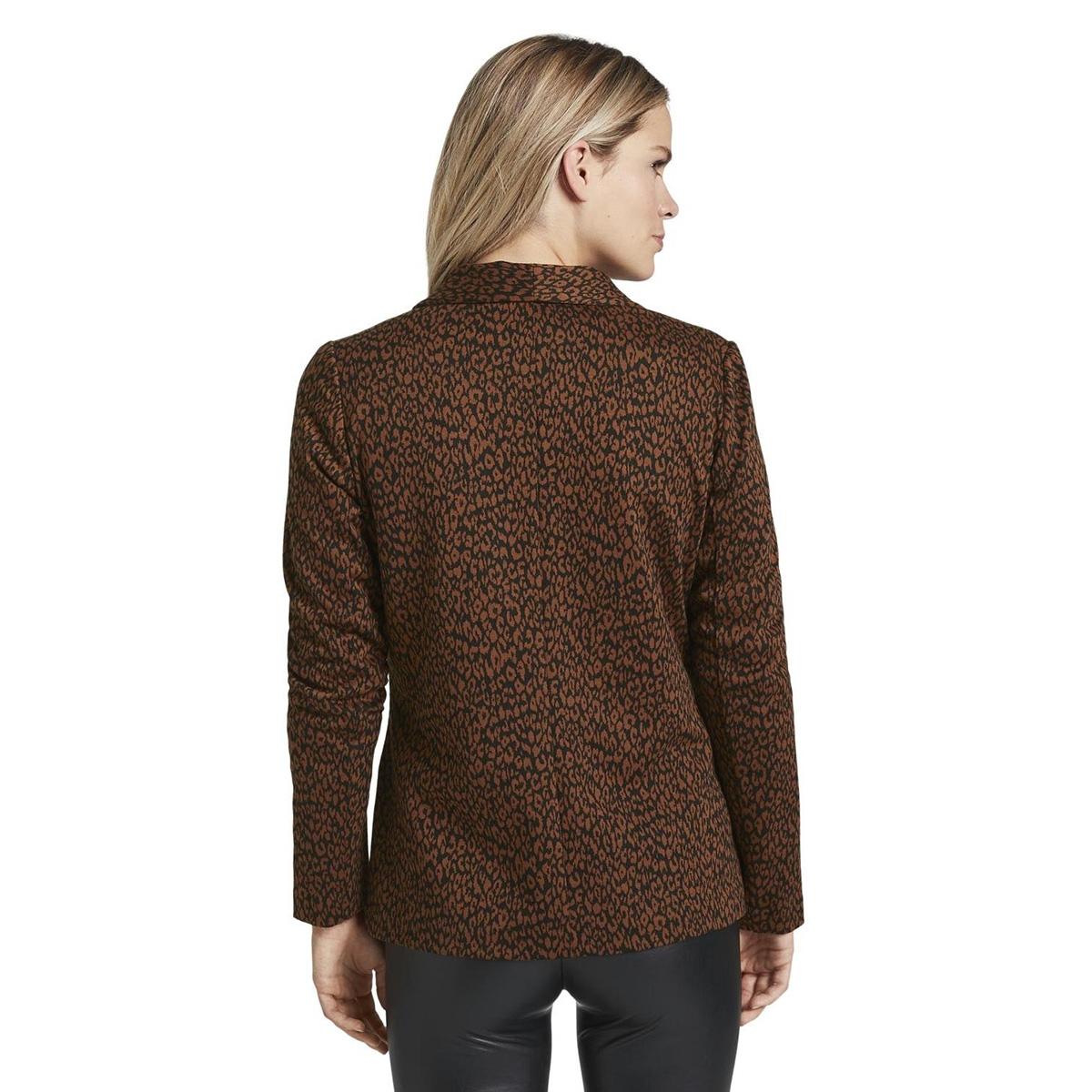 jacquard blazer met luipaardprint 1016514xx71 tom tailor blazer 21262