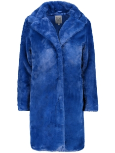 Geisha Jas LONG COAT FUR SOLID 98526 10 Cobalt