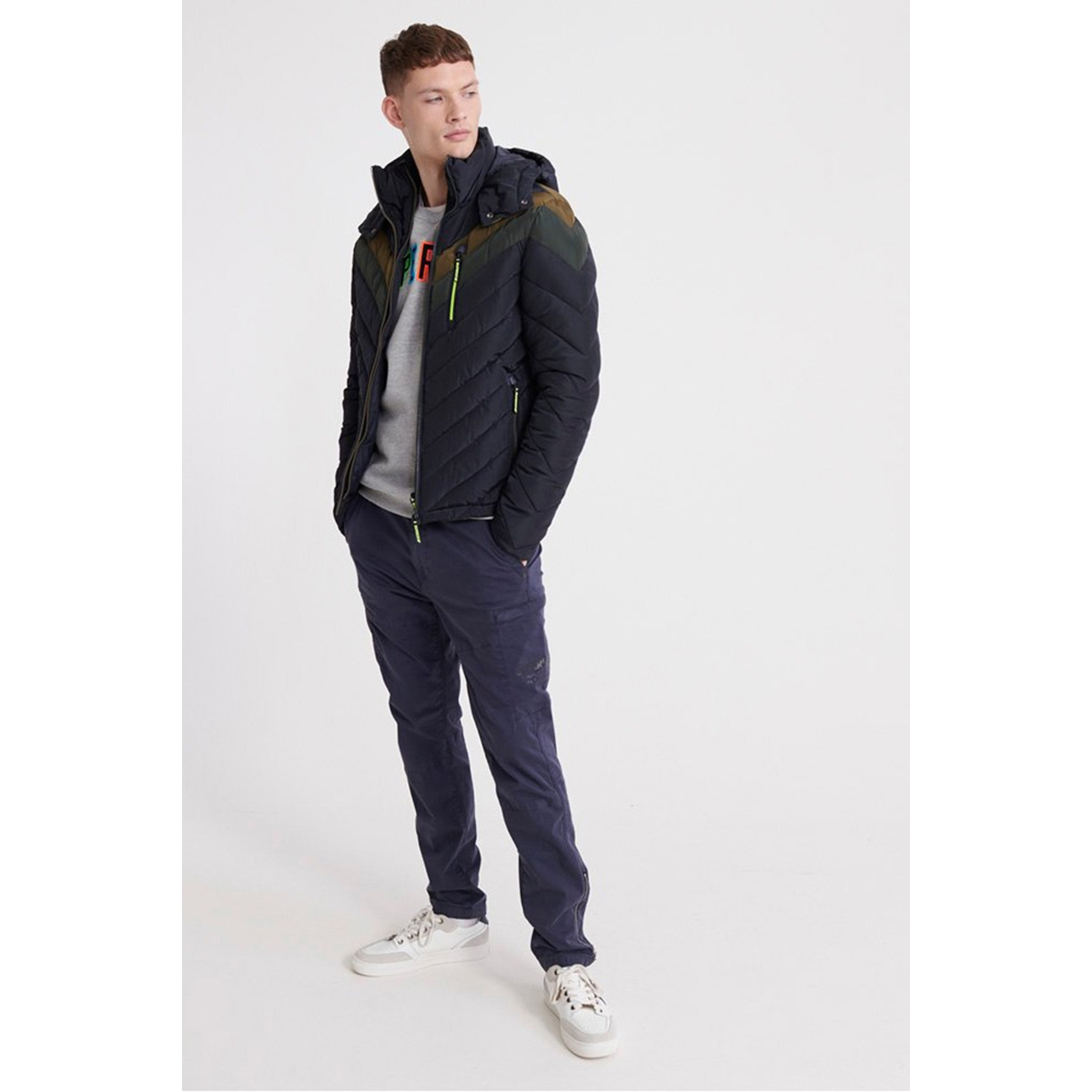 ultra chevron fuji m5000132a superdry jas darkest navy