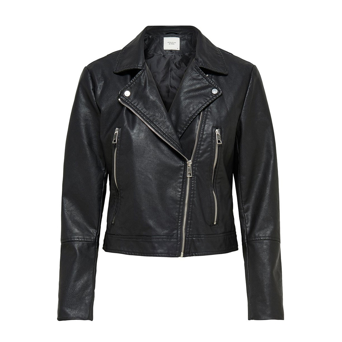 jdyilde short faux leather jacket noos 15168509 jacqueline de yong jas black