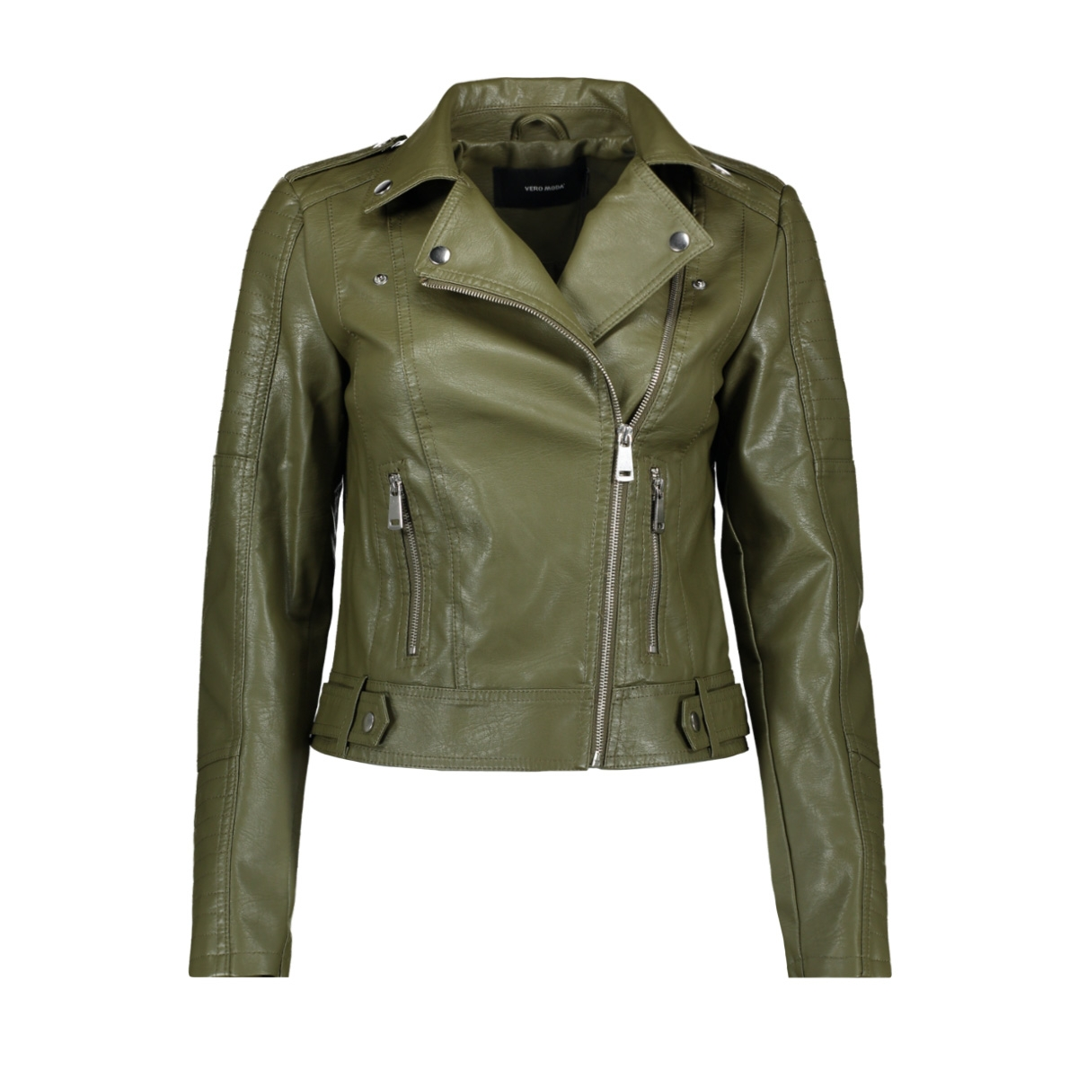 vmkerriultra short coated jacket co 10228729 vero moda jas olive night