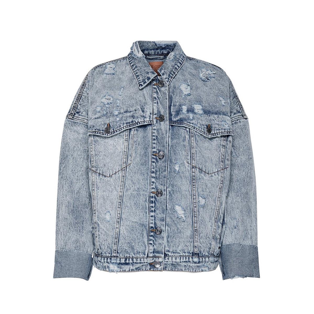 onlamy ls oversize dnm jacket pim 15195257 only jas light blue denim
