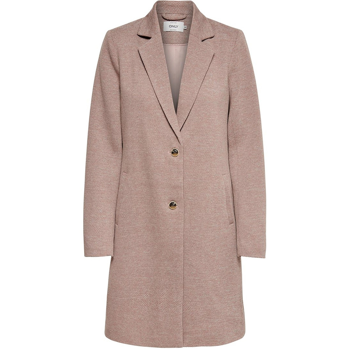 onlcarrie mel coat otw noos 15173066 only jas mocha mousse/melange