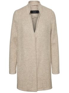vmbrushedkatrine 3/4 jacket boos 10222412 vero moda jas silver mink/melange