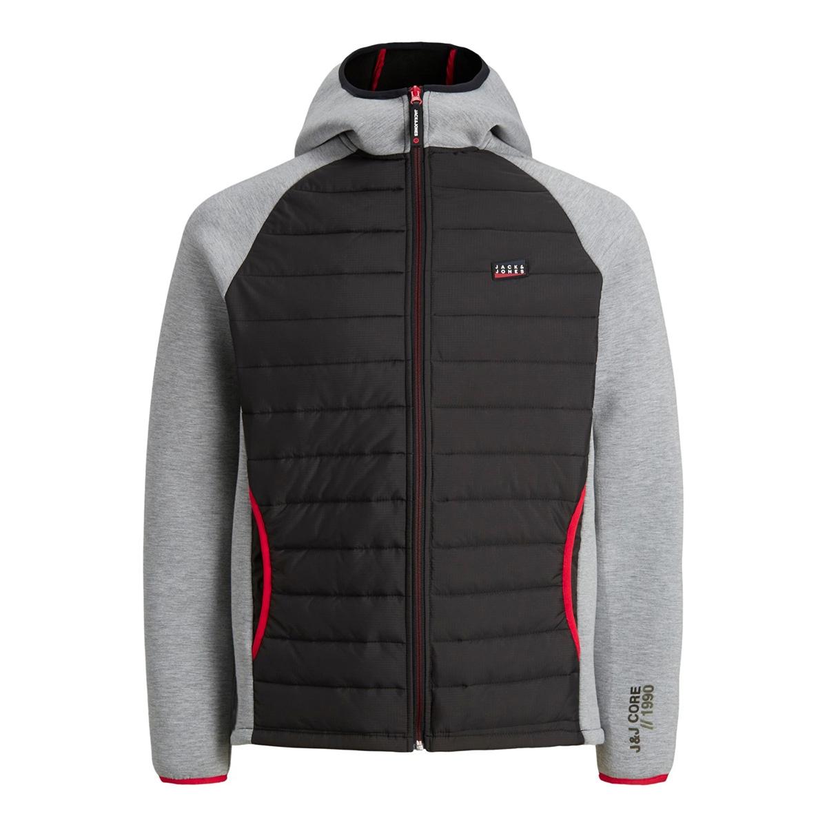 jcotoby jacket noos 12166705 jack & jones jas light grey mela/lgm sleeve
