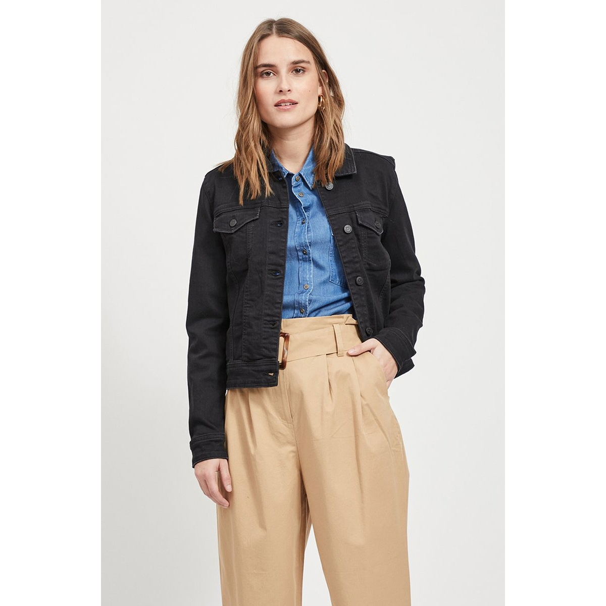objwin new  denim jacket noos 23026129 object jas black denim