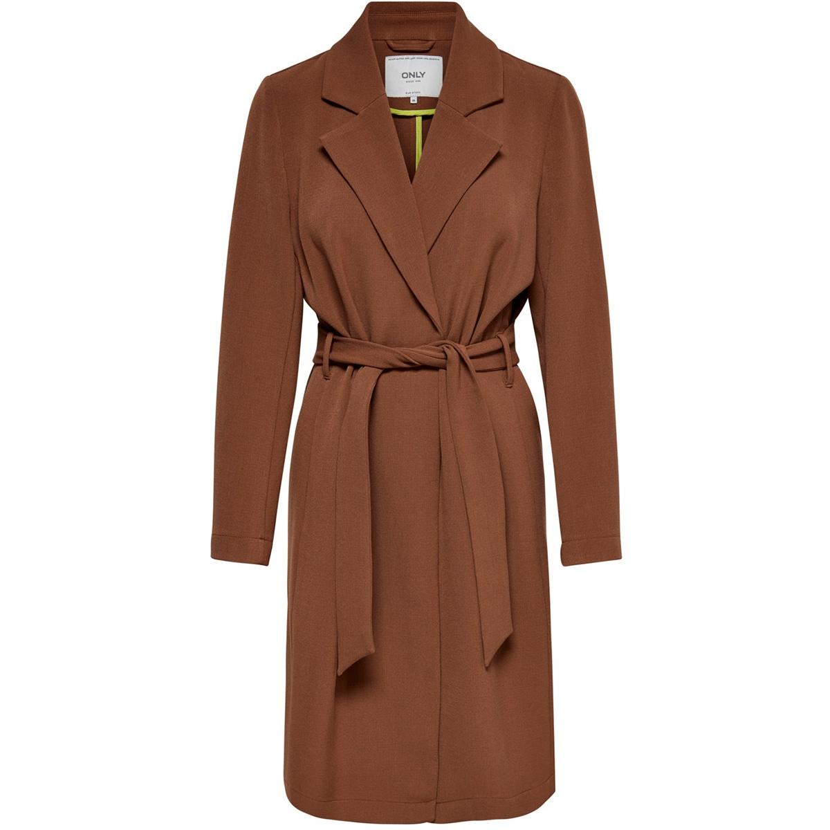 onlpenelope wrap coat cc otw 15191805 only jas brown patina