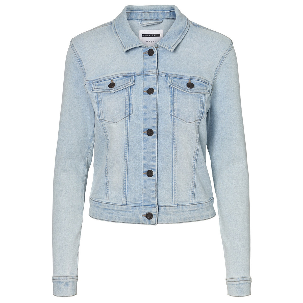 nmdebra l/s denim jacket lb bg noos 27011268 noisy may jas light blue denim