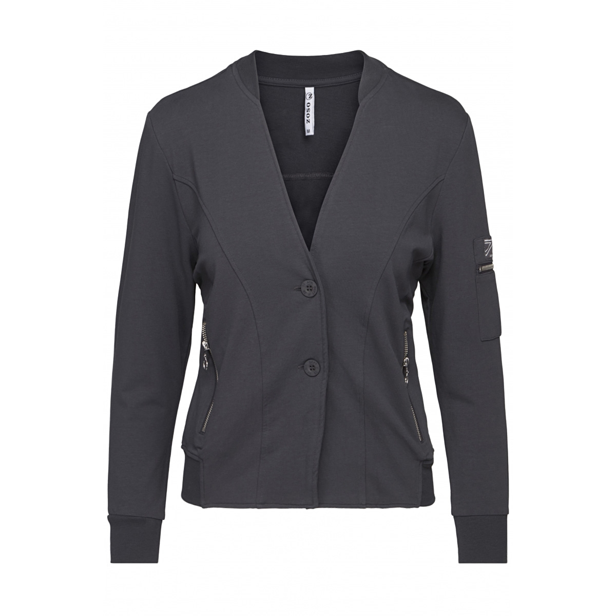 mercy jacket with details 201 zoso blazer 0059 charcoal