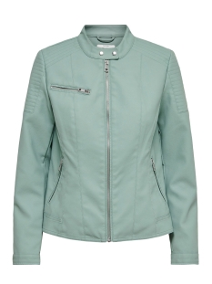 onlmelanie faux leather jacket cc o 15191823 only jas chinois green
