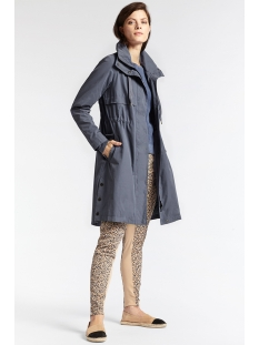 halflange jas met hoge kraag 25101106 sandwich jas 41027 blue grey
