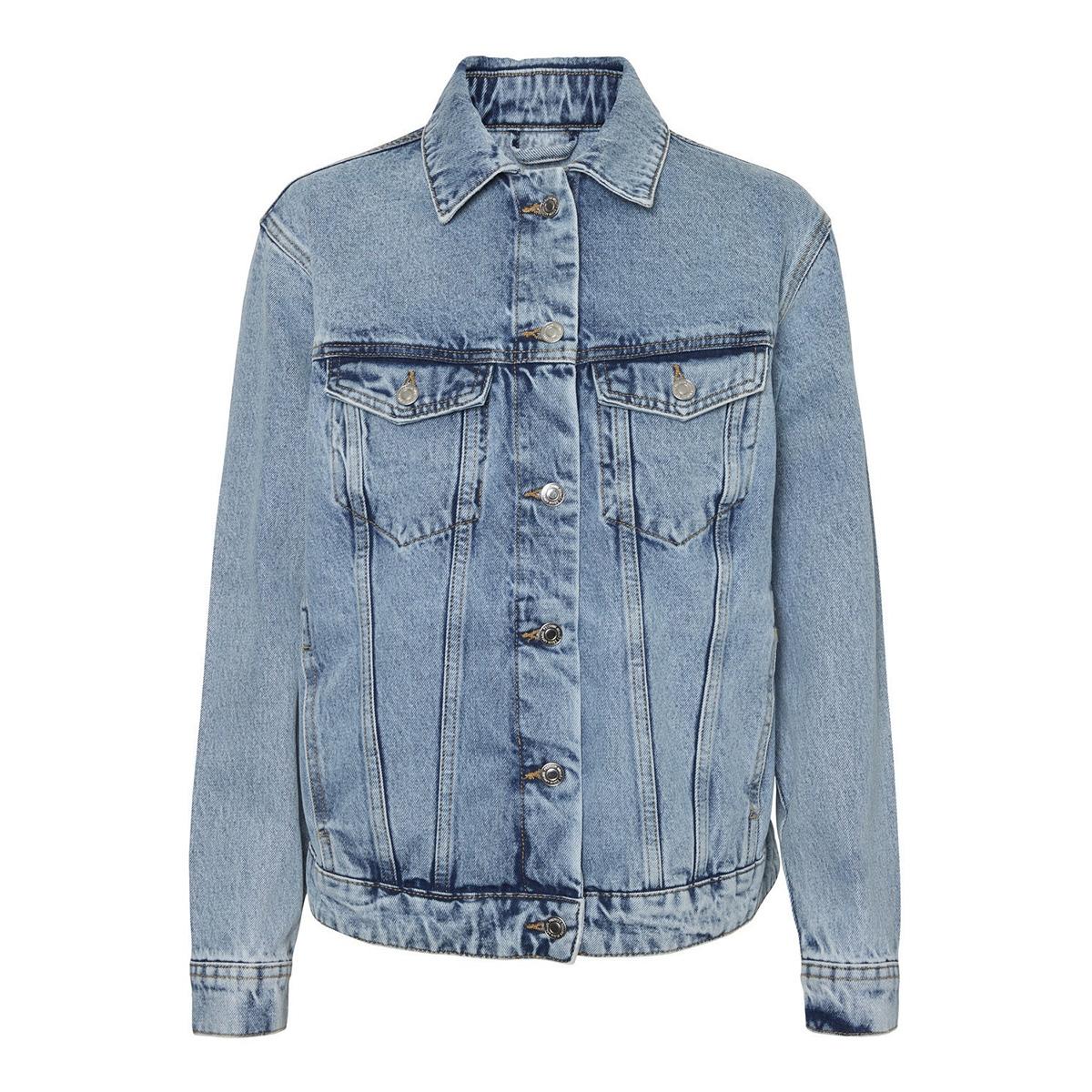 vmkatrina ls loose jacket mix ga no 10226052 vero moda jas light blue denim