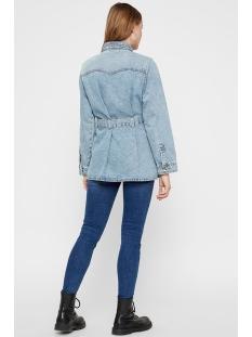 pcnamir ls denim jacket lb145-vi bc 17102244 pieces jas light blue denim
