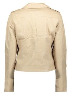 jacket pu zippers 08020 geisha jas beige