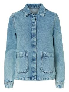 vmsmilla ls loose denim jacket vi35 10230322 vero moda jas light blue denim