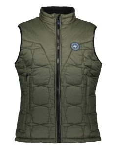 Haze & Finn Jas PUFFER BODYWARMER MC13 1030 ARMY GREEN